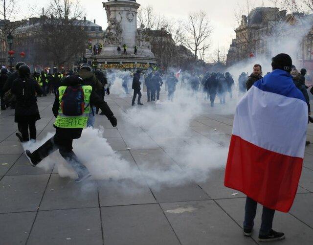 سیزدهمین هفته تظاهرات جلیقه زردها علیه سیاست های ماکرون
