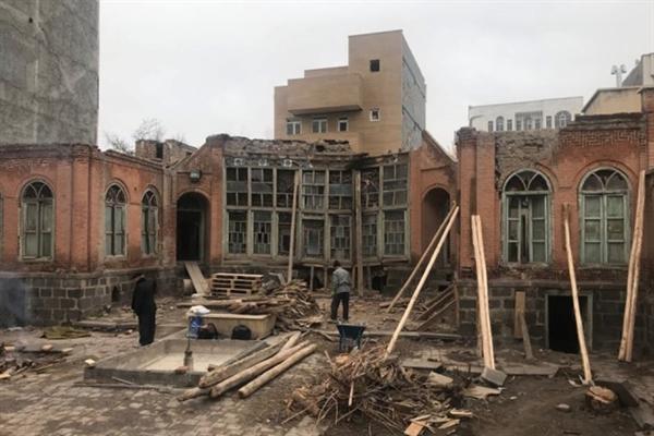 بخشی از عملیات مرمت 2 خانه قاجاری در اردبیل به اتمام رسید