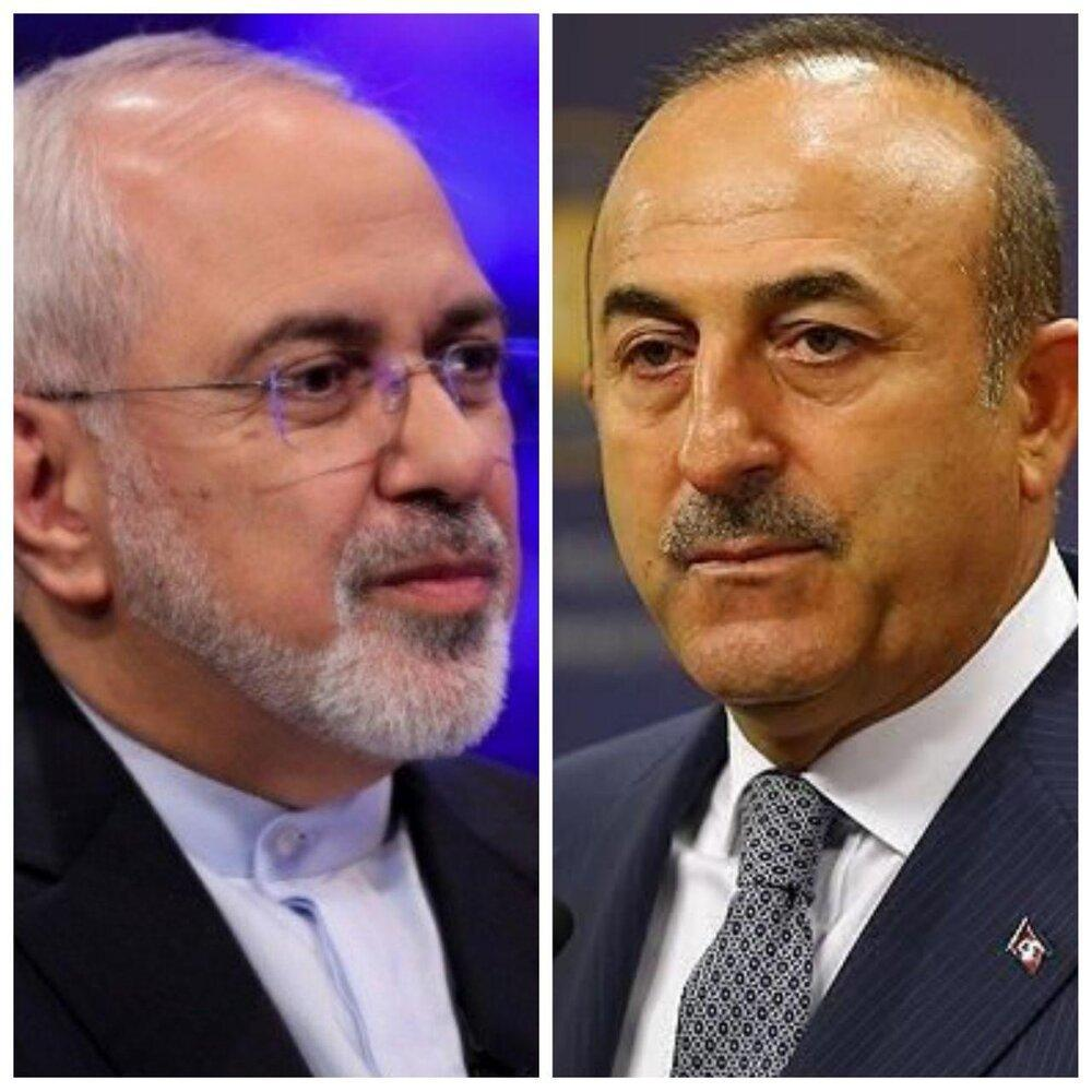 گفت وگوی تلفنی ظریف با وزیر خارجه ترکیه