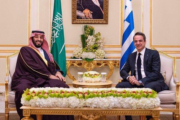 نخست وزیر یونان با ولیعهد عربستان ملاقات و تبادل نظر کرد