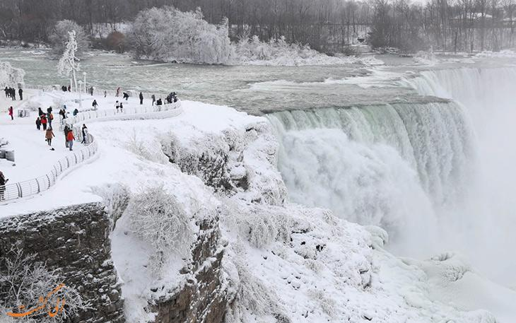 آبشار نیاگارا یخ زد! تصاویری نفس گیر از آبشار نیاگارا در زمستان