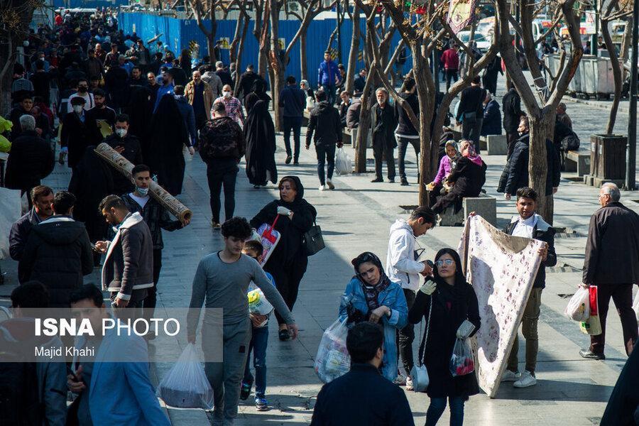 بازار عظیم تهران همچنان پرتردد