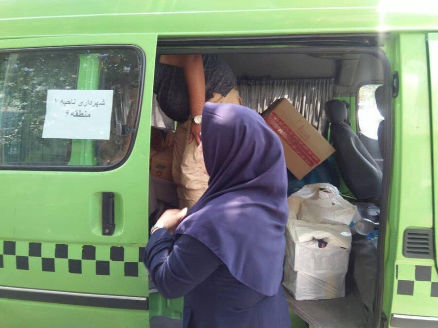 همدلی با خانواده های بچه ها کار ، توزیع بسته های غذایی و بهداشتی میان ساکنان کوره پزی