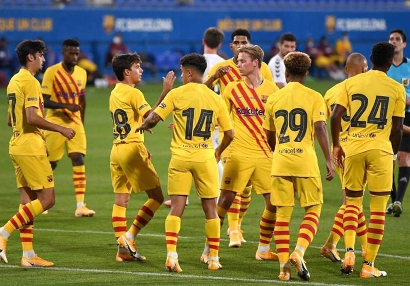 پیروزی بارسلونا در اولین بازی با راهنمایی کومان با حضور مسی