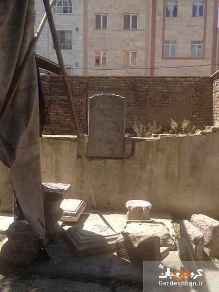 آخرین تصاویر و شرایط مقبره دو روزنامه نگار مشروطه خواه در تهران، چرا بازسازی مقبره جهانگیرخان صوراسرافیل متوقف شد؟